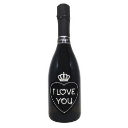 Love Black 0,75L I Love You - Bottiglia con Swarovski