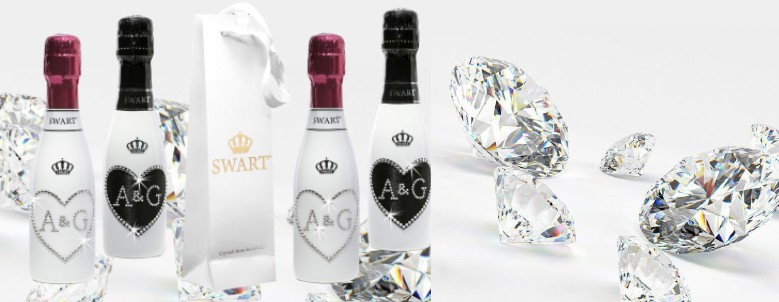 Set di Bomboniere Personalizzabili con Cristalli Swarovski